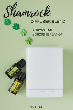 Whether you are looking for creative ways to celebrate St. Patrick's Day with your kids at home or school you can do it with this cheery diffuser blend!