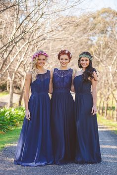 Photography - Silk Truffle Photography www.silktruffle.com.au  Headpieces and styling - Summerblossom www.summerblossom.com.au  Makeup - Makeup By Megan Vaughan www.makeupbymegan.com.au  Hair - Carly Wood www.mobileweddinghairsydney.com.au  Jewellery - Meg Maskell Fine Jewellery www.megmaskell.com.au  Dresses - Bridesmaids Only www.bridesmaidsonly.com.au  Models - Maddie Peat, Zoe Ioannou and Talia Burton  Handing concrete planters - Peace Of Me www.facebook.com/peaceofme123