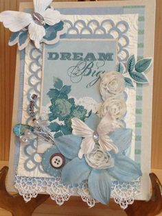Shabby Chic Card Vintage Card Greeting Card by MyPrettyPaperGifts, $8.49