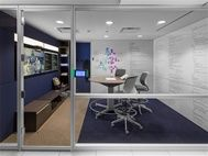 Steelcase showroom, Synthesis Hub, featuring V.I.A. and media:scape #collaboration #office #design #furniture #technology