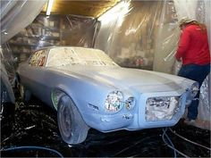 Hobby Auto Restoration: Primer and Sanding: 8 Steps (with Pictures) Restoration Shop, Classic Car Restoration, 1976 Camaro, Auto Parts Shop, Paint Stirrers, Car Painting, Classic Mini, Auto Paint, Pictures