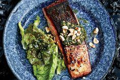 Butter-Basted Salmon With Hazelnut Relish