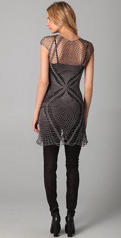 Outstanding Crochet: Jen Kao. Crochet Lace Tunic.