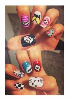 Colleen ames alice in wonderland nail art