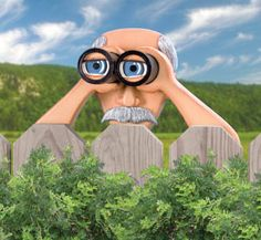 Peekin' Pete Woodcrafting Plan Hey what's happening next door? Just ask Pete - the ULTIMATE nosey neighbor. Peekin' Pete see's all with his high-powered binoculars! #diy #woodcraftpatterns
