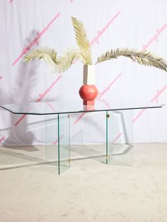 Glass Dining Table with Brass Brackets – Coming Soon 1970s Furniture, Glass Dining Table, Furniture Companies, Contemporary Furniture, Brass, Home Decor, Rooms, Inspiration, Bedrooms