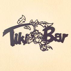 TikiBar sign. Bar signs 14 ga mild steel