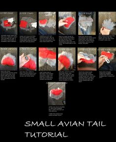 Fursuit: small fluffy cute tail tutorial