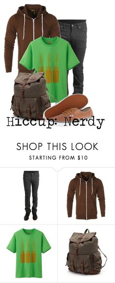 """Hiccup: Nerdy"" by not-by-sight ❤ liked on Polyvore featuring Naked & Famous, CO, Uniqlo, Billabong and Vans"