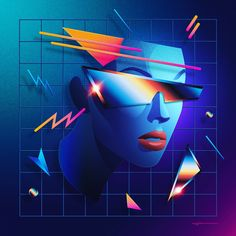 Featuring The Amazing: . New Retro Wave, Retro Waves, Cyberpunk, 1980s Art, Vaporwave Wallpaper, Wave Art, Airbrush Art, Look Vintage, Retro Art