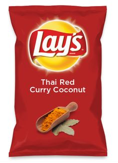 Wouldn't Thai Red Curry Coconut be yummy as a chip? Lay's Do Us A Flavor is back, and the search is on for the yummiest flavor idea. Create a flavor, choose a chip and you could win $1 million! https://www.dousaflavor.com See Rules.