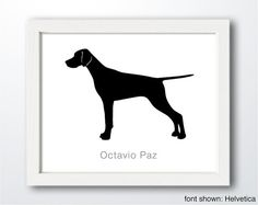 Personalized Hand-Cut English Pointer Silhouette by ShapeofLove