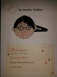 Harry potter character hair clips or brooch by JeniBowtique