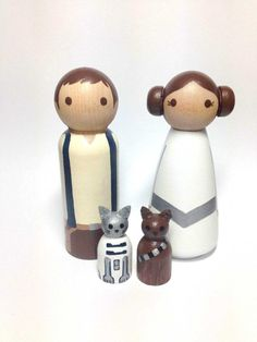 ** IN STOCK ... ships in 24hrs*** Ships as is.... no customizing! This geeky threesome will be the perfect cake topper for the Star Wars geek in your