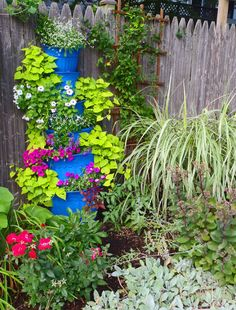 Flower tower - A stacked container garden | Upcycled Garden Style | Scoop.it
