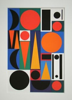 Auguste Herbin, Ri, 1955, Sérigraphie                                                                                                                                                                                 Plus