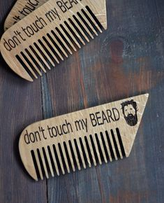 Etsy Beard Gift Personalized Wooden Beard Comb Engraved Hair comb Mustache Men Grooming Kit Gift for Him