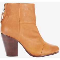 rag & bone Classic Newbury Bootie: Tan ($525) ❤ liked on Polyvore featuring shoes, boots, ankle booties, ankle boots, high heel booties, rag bone boots, high heel bootie, tan boots and zip ankle boots