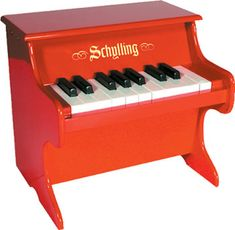 Mini Red Piano: when I have children, they will have one of these... :)