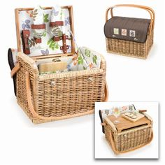 Picnic Time Kabrio Basket with Wine and Cheese Service for Two, Moka Collection >  The Picnic Time Kabrio Willow Wine Picnic Basket is like no other wine basket you will find. Made of willow with a soft insulated cover, it features an integrated wooden table top, perfect f... Check more at http://farmgardensuperstore.com/product/picnic-time-kabrio-basket-with-wine-and-cheese-service-for-two-moka-collection/
