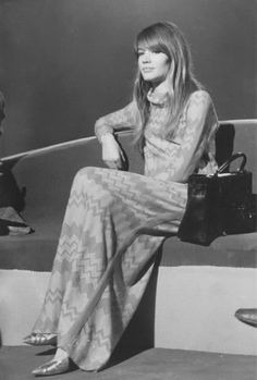Françoise Hardy and her Kelly Hermès bag