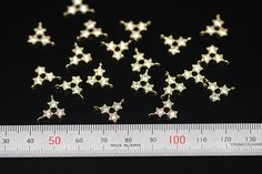 6pcs brass stars part with cz plated luster gold by 3yes on Etsy