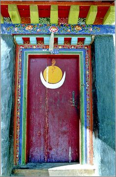painted entry and door