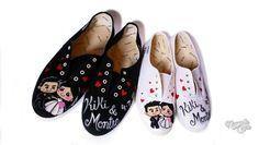 Zapatillas novios Kiki & Montse | Regalos originales de boda | Nayade Caps Gorras personalizadas Custom caps