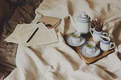 Morning tea and letters