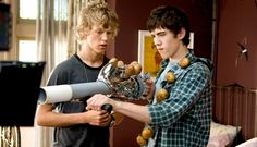 Carter Jenkins as Tom Pearson and Austin Robert Butler as Jake in adventure fantasy 'Aliens in the Attic.'