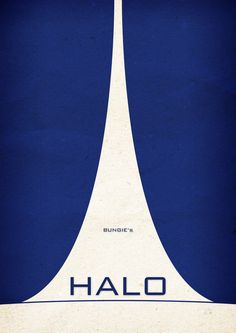 Awesome Minimalist Video Game Posters by Boris Lechaftois & Boss Logic Gaming Posters, Cool Posters, Graphic Posters, Video Game Posters, Video Games, Halo Poster, Graphic Design Typography, Logo Design, Halo Master Chief