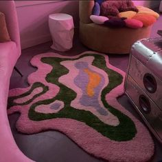 My New Room, My Room, Room Ideas Bedroom, Bedroom Decor, Funky Bedroom, Indie Bedroom, Bedroom Vintage, Funky Rugs, Indie Room Decor