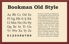 Bookman Old Style