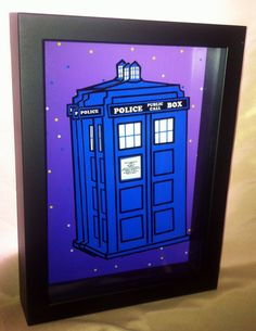 This Dr. Who Tardis 3D Pop Art feature the iconic Police Box in a papercut work of art.    The Tardis features paper cut pieces composed in 3D     The artwork is hand signed by the artist and includes a black box frame.     Dimensions: 5x7″ Framed