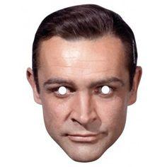 Sean Connery James Bond Cardboard Cutout Face Mask