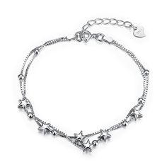 Star Jewelry, Jewelry Gifts, Fine Jewelry, Silver Jewellery, Jewelry Party, Crystal Jewelry, Crystal Beads, Wedding Jewelry, Link Bracelets
