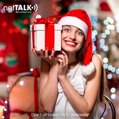 """#DozenDUOGiveaway STARTS NOW! DAY 1 TOPIC: """"Who wants to be the first to win?"""" Post your comment below to enter and have a chance to win a FREE netTALK DUO WiFi with 12 month Basic Service + FREE 12 month International Call Plan + FREE $20 International TALK Credit to any country www.netTALK.com  #12daysofchristmas #Giveaway #Christmasdeals #holidaysavings #gifts #HappyHolidays #MerryChristmas #Christmas2015"""