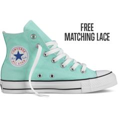 Converse Chuck Taylor All Star Fresh Colors – blue Sneakers ($60) ❤ liked on Polyvore featuring shoes, sneakers, converse, blue, hi tops, blue sneakers, rubber sole shoes, blue high tops and high top shoes