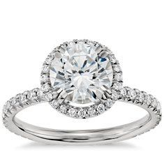 THIS IS THE ONE  Blue Nile Studio Heiress Halo Diamond Engagement Ring in Platinum (2/5 ct. tw.) with Round 1.25-Carat Diamond. Size 7.5 = Perfect Ring   HSB