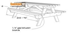 8 Foot Picnic Table Plans | DIY Projects - Construct101 Folding Picnic Table Plans, Diy Picnic Table, Camping Table, Cool Sports Cars, Diy Bench, Outdoor Chairs, Outdoor Decor, Shed Plans, Diy Wood Projects