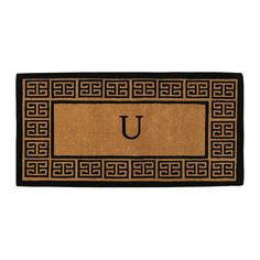 Momentum Mats 'The Grecian' Extra-thick Monogrammed Doormat (3' x 6') (Letter