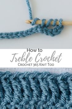 Learn how to do basic stitches like treble crochet with Crochet 365 Knit Too! How To Treble Crochet, Treble Crochet Stitch, Basic Crochet Stitches, Crochet Basics, Easy Crochet Patterns, Double Crochet, Crochet Lace, Free Crochet, Crotchet
