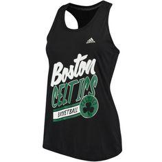 206d17afb8d3ac Women s Boston Celtics adidas Black 3-Stripe Arch Ultimate climalite Tank  Top