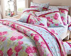 linge de lit fleurs anglaises   becquet