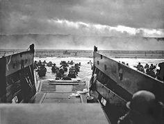 Desembarco de las tropas aliadas en la playa de Normandia. 6 de junio de 1944. La mayor operación militar de la historia.