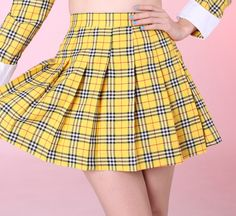 As If Yellow Tartan Skirt - Glitters for Dinner (http://gfdstore.bigcartel.com/product/made-to-order-as-if-yellow-tartan-skirt)