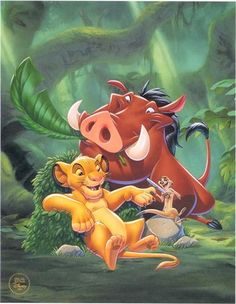 "Walt Disney Book Image of Simba, Pumbaa and Timon from ""The Lion King"" 37984831 The Lion King 1994, Lion King Movie, Lion King Simba, Disney Lion King, Walt Disney Characters, Disney Wiki, Disney Art, Lion King Pictures, Hakuna Matata"