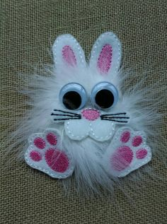 Hey, I found this really awesome Etsy listing at https://www.etsy.com/listing/223699019/fluffy-bunny-easter-hair-bow-bunny-hair