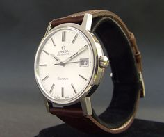 Vintage OMEGA Geneve AUTOMATIC 1012 DATE SWISS MEN STAINLESS STEEL