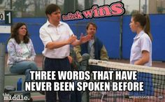 """3 words never spoken before: """"Sue Heck Wins"""" The Middle Sue, The Middle Tv Show, Abc Tv Shows, Movies And Tv Shows, Wtf Funny, Funny Jokes, Abc Family, Modern Family, Funny Scenes"""